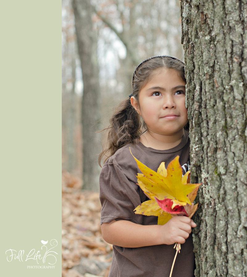 Chattanooga Child Photography Girl with Leaves