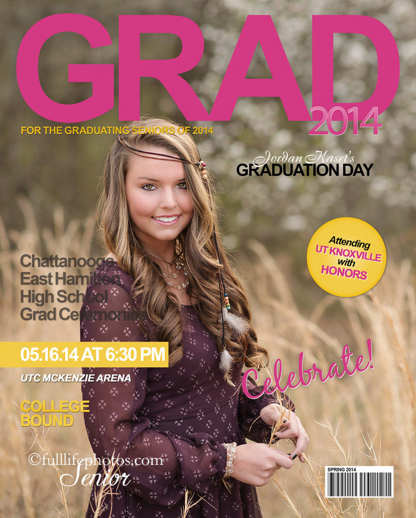 Senior girl magazine cover